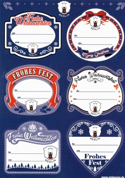 Gift Adhesive Labels for Christmas