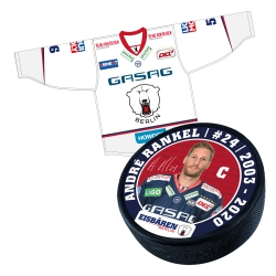 Eisbären Berlin - Puck+Trikot SET - 2017-18 - Away - 24-Rankel
