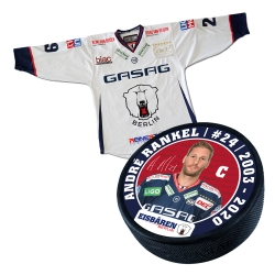 Eisbären Berlin - Puck+Trikot SET - 2018-19 - Away - 24-Rankel