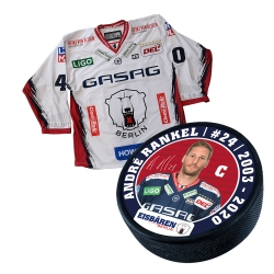 Eisbären Berlin - Puck+Trikot SET - 2019-20 - Away - 24-Rankel