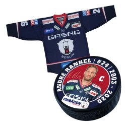 Eisbären Berlin - Puck+Trikot SET - 2017-18 - Home - 24-Rankel