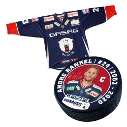 Eisbären Berlin - Puck+Trikot SET - 2018-19 - Home - 24-Rankel