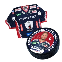 Eisbären Berlin - Puck+Trikot SET - 2019-20 - Home - 24-Rankel