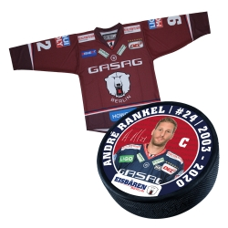 Eisbären Berlin - Puck+Trikot SET - 2017-18 - Third - 24-Rankel