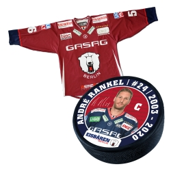 Eisbären Berlin - Puck+Trikot SET - 2018-19 - Third - 24-Rankel