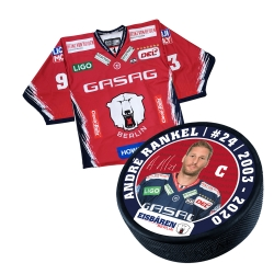Eisbären Berlin - Puck+Trikot SET - 2019-20 - Third - 24-Rankel